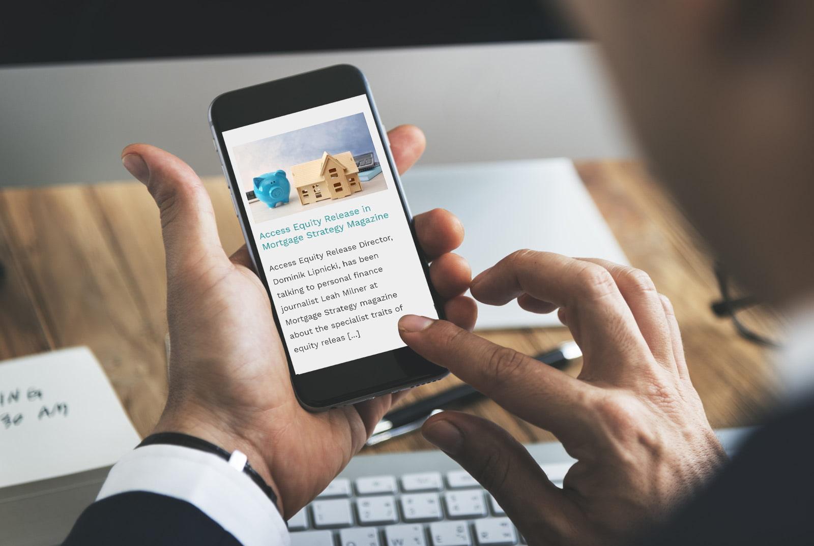 Financial advisors website by JJ Solutions built using WordPress