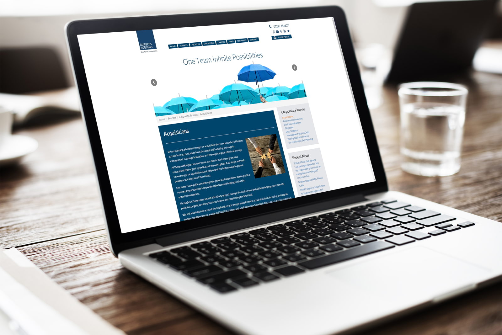 Burgess Hodgson - accountancy website in Canterbury designed by JJ Solutions