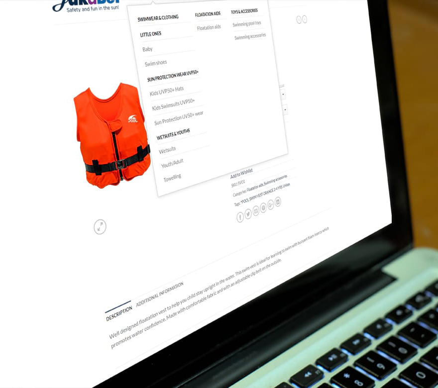 Online retail website from JJ Solutions