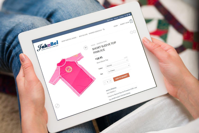 Who designed the Jakabel website in Wimbledon - JJ Solutions