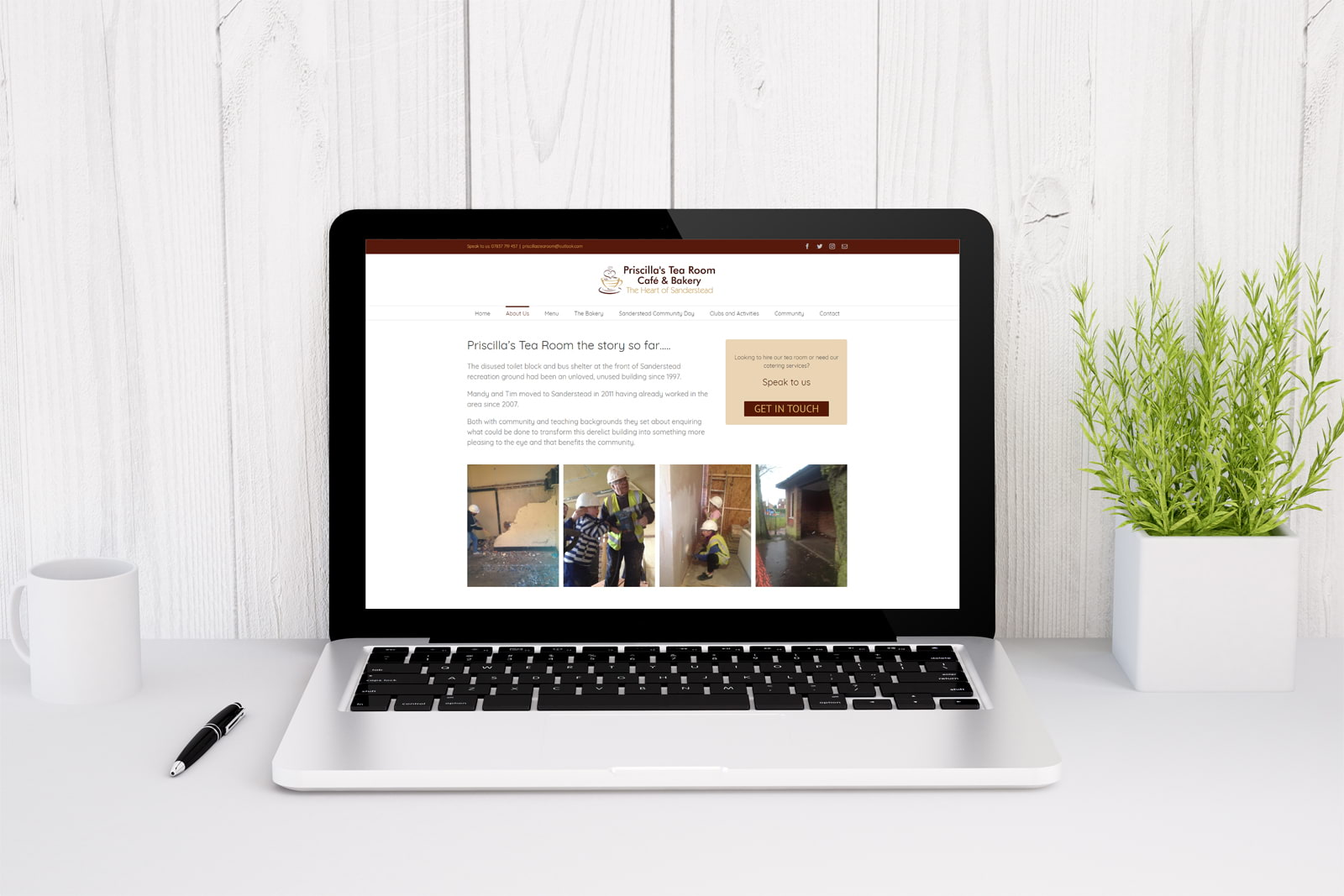 Priscilla's Tea Room in Sanderstead web design