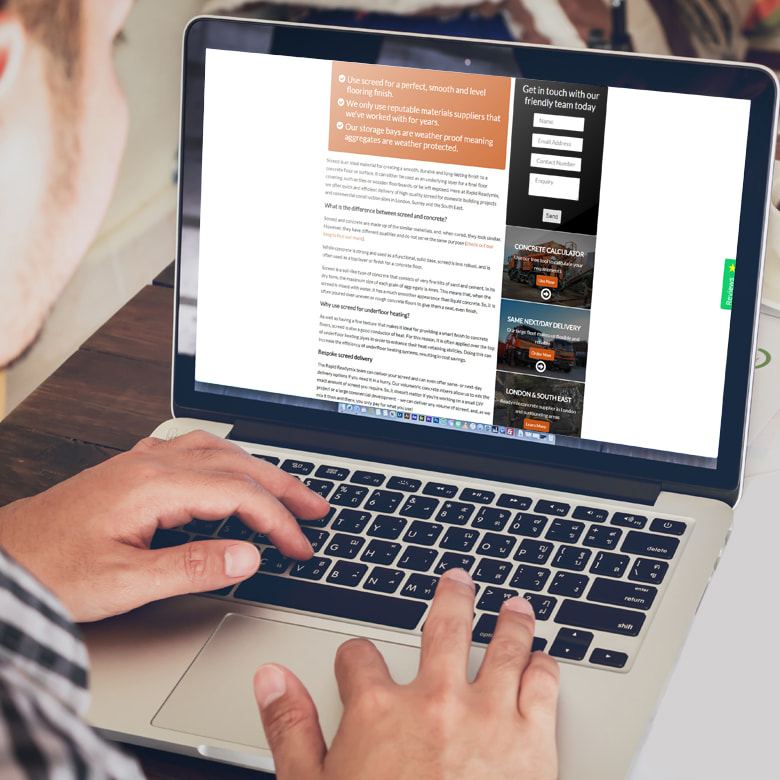 JJ Solutions designed the Rapid Readymix website in Mitcham