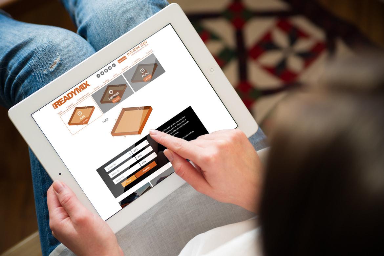 Concrete supplier - Rapid Readymix website design by JJ Solutions