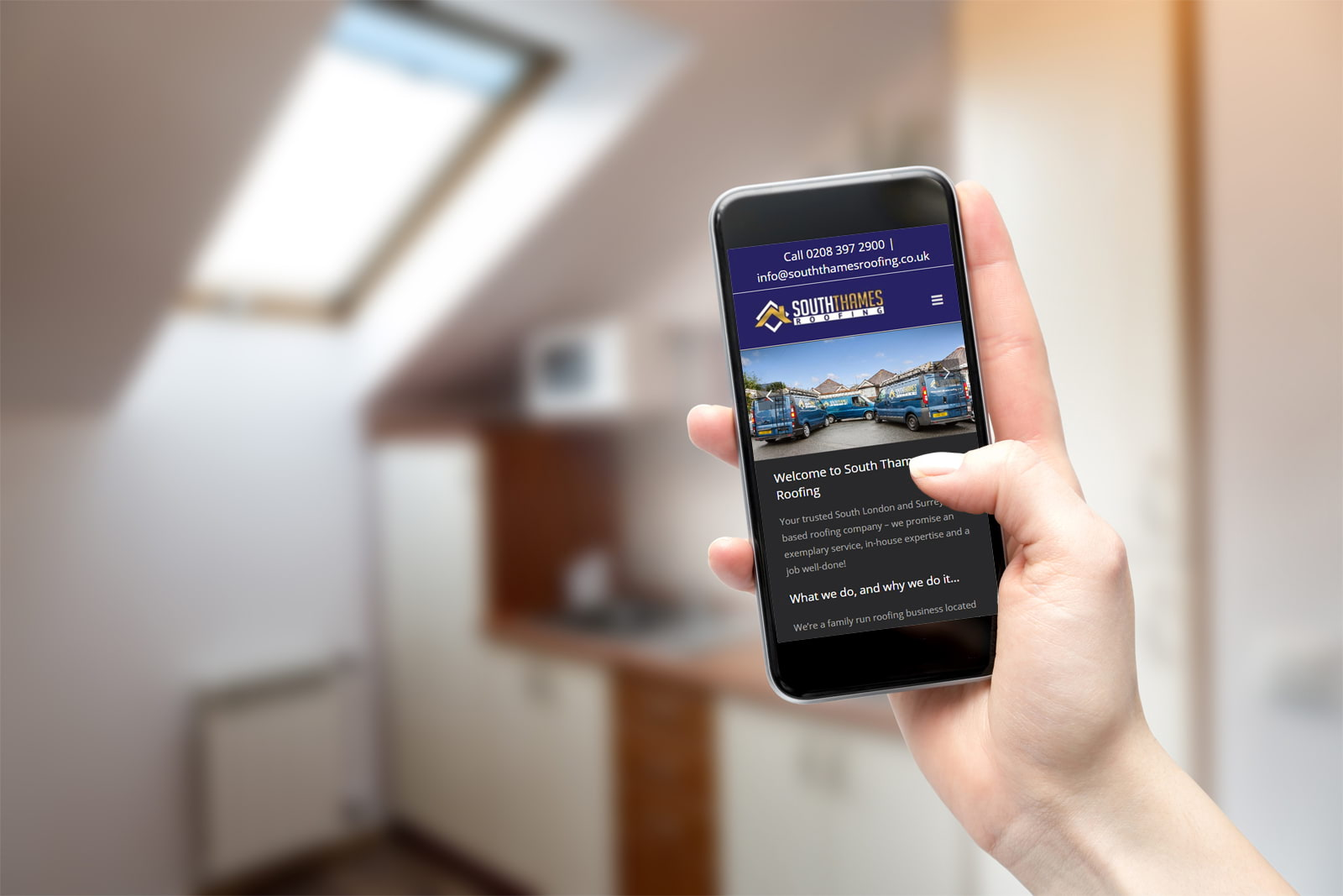 South Thames Roofing website with mobile friendly interface from JJ Solutions