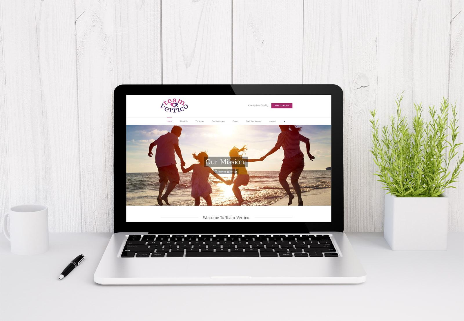 Who built the Team Verrico website - JJ Solutions