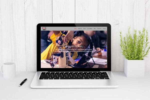 WordPress web designers in Fulham - JJ Solutions designed and built the girlsintocoding.com website
